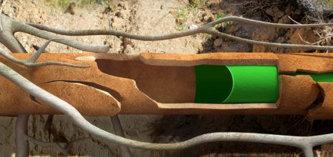 Pipe relining process for buried pipes