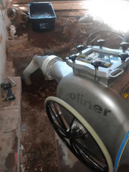 Brawoliner pipe relining machine