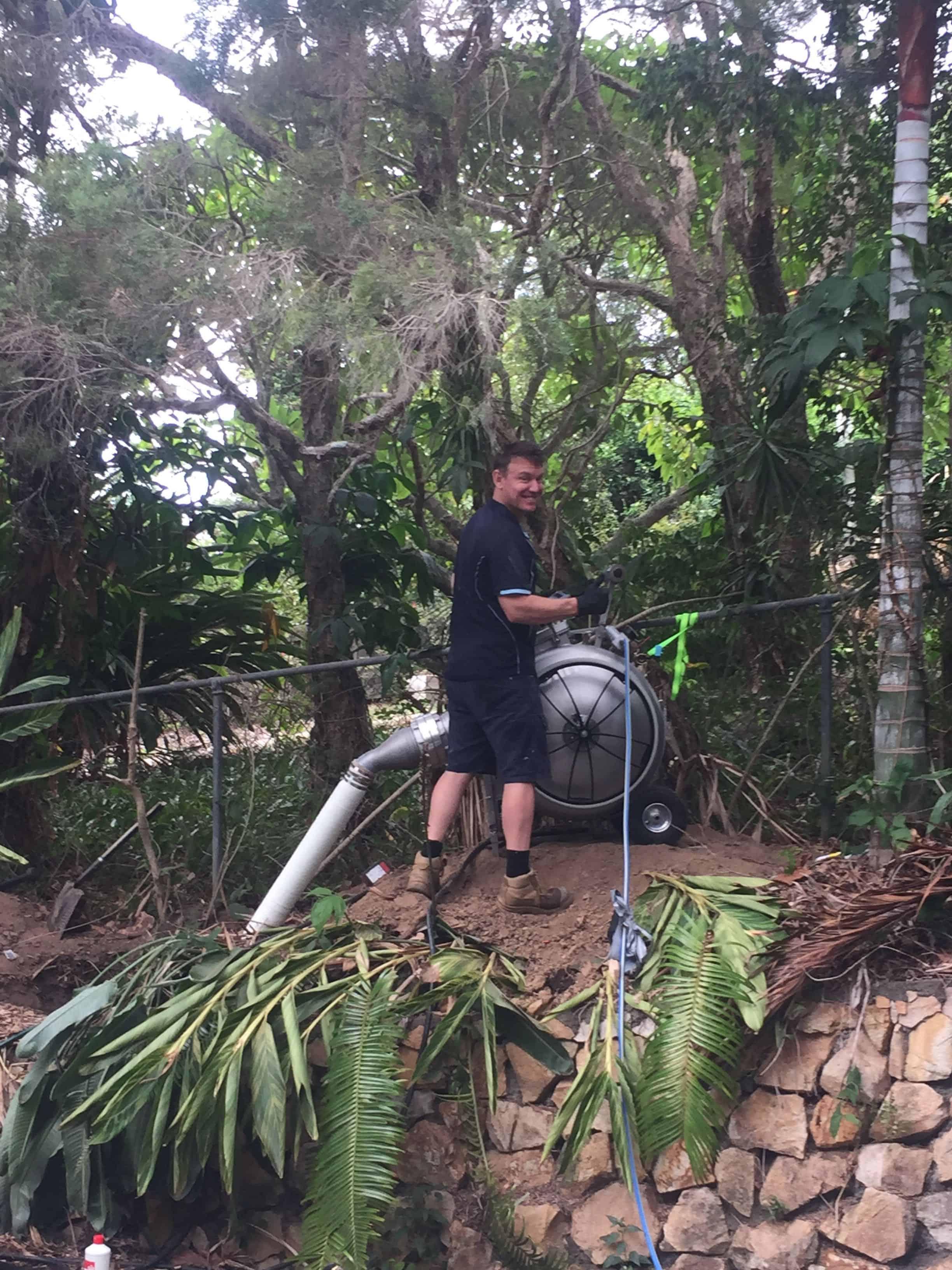 Emu Plumbing team member using brawoliner pipe relining technology