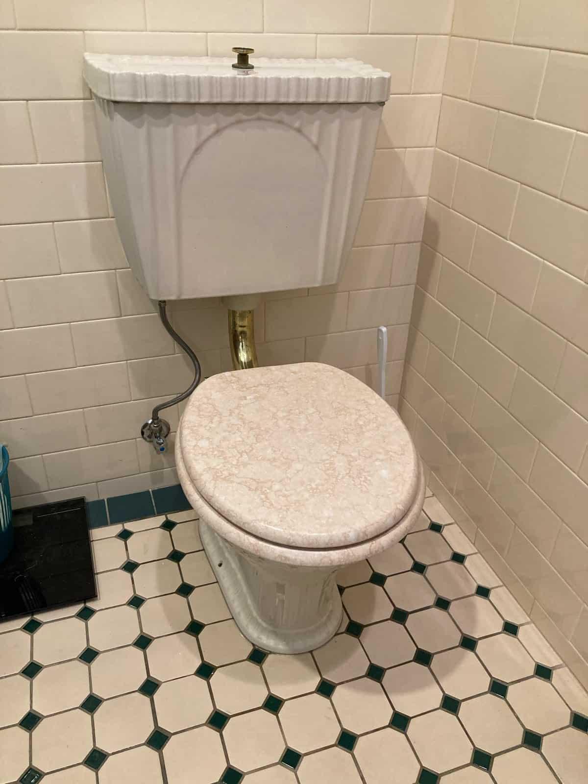 Marble ceramic toilet