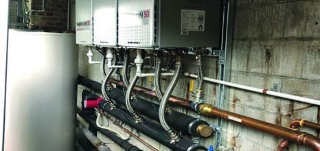 commercial plumbing hot water plant